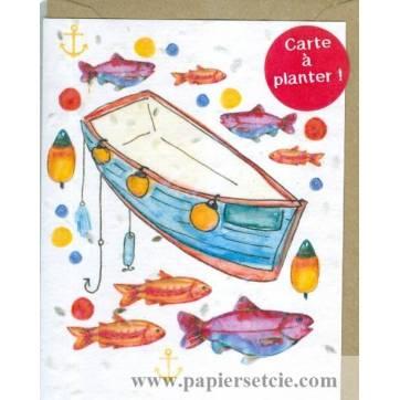 Carte à planter Hannah Marchant Poissons et Barques, graines d'Aneth
